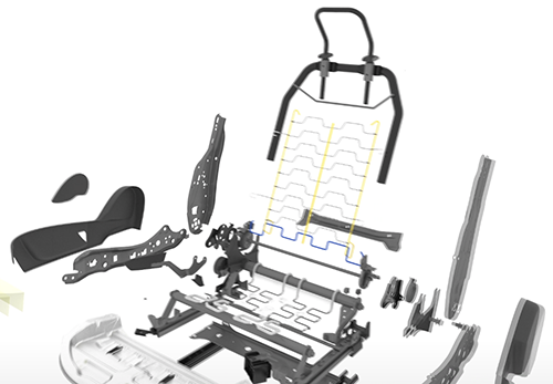 多彩なシートアレンジや快適性・安全性を支えているのが シートを構成する様々な機構部品です