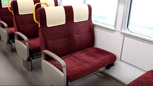 快適性や耐久性が要求される鉄道用シート
